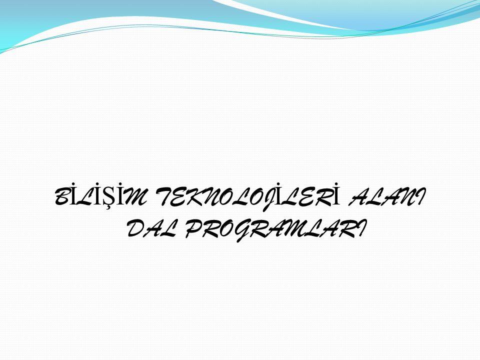 Alanın Tanımı: Bilişim Teknolojileri alanı altında yer alan dalların yeterliklerini kazandırmaya yönelik eğitim ve öğretim verilen alandır.