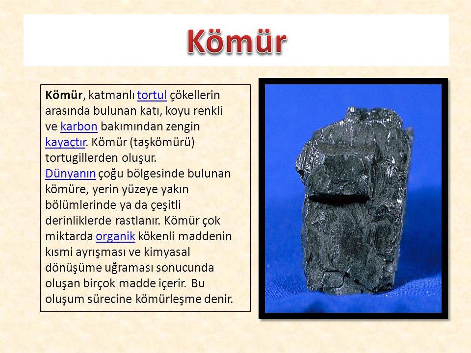 Kömür, katmanlı tortul çökellerin arasında bulunan katı, koyu renkli ve karbon bakımından zengin kayaçtır. Kömür (taşkömürü) tortugillerden oluşur.tor