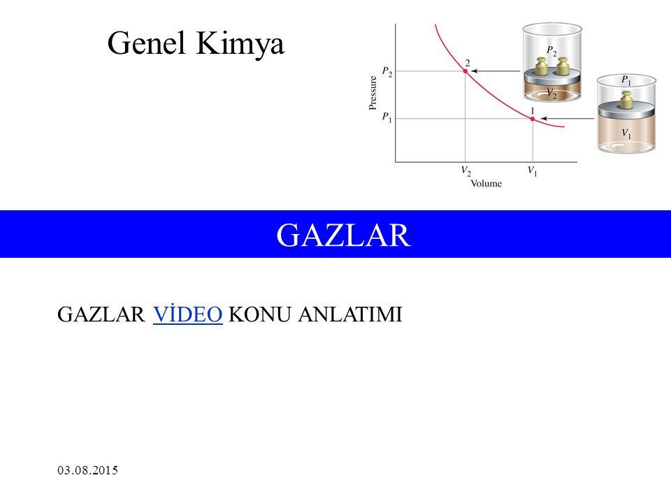 6-1 Gazların Özellikleri: Gazların Basıncı Gaz Basıncı Sıvı Basıncı P (Pa) = Yüzey (m 2 ) Kuvvet (N) P = g ·h ·d Basınç, birim alana düşen kuvvettir.