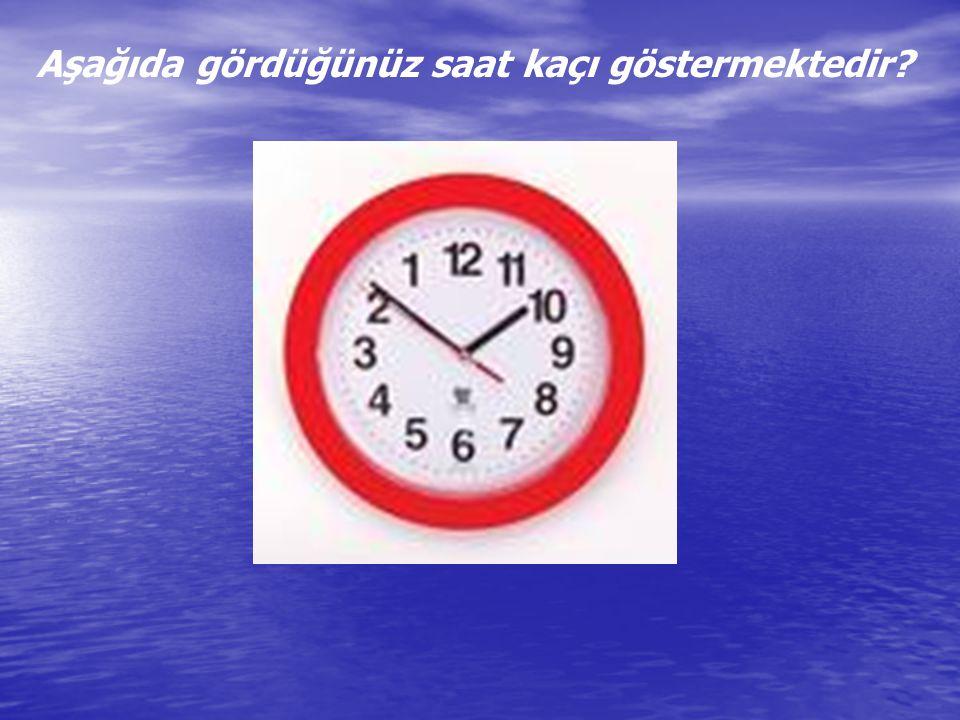 Aşağıda gördüğünüz saat kaçı göstermektedir