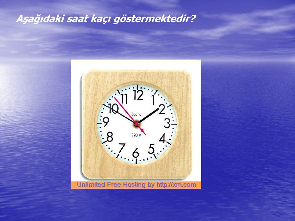 Aşağıdaki saat kaçı göstermektedir