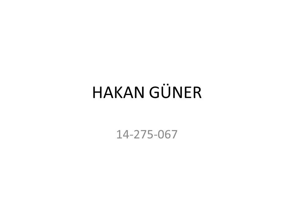 HAKAN GÜNER 14-275-067