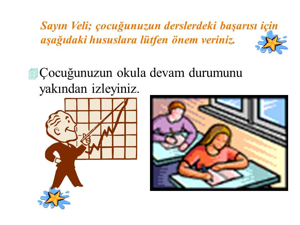 4 Çocuğunuzun evde ders çalışmasını kontrol ediniz.