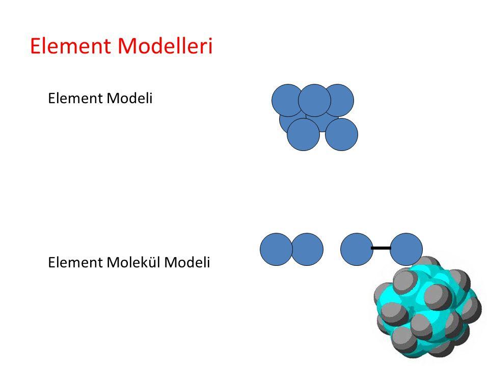 Element Modelleri Element Modeli Element Molekül Modeli