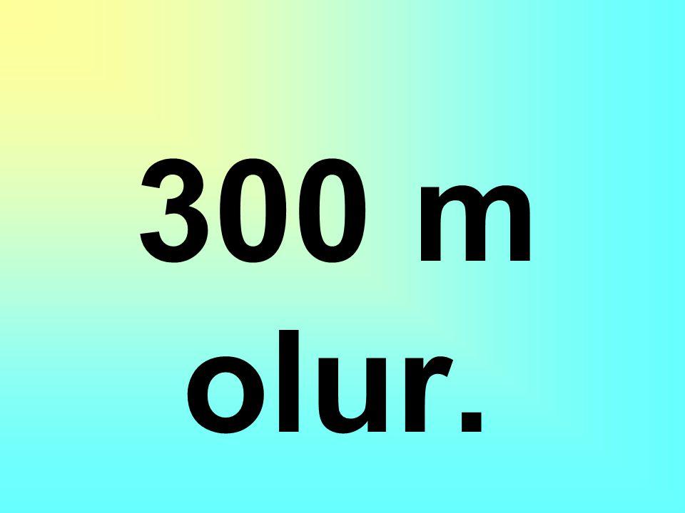 300 m'yi önce mm'ye sonra km'ye sonra cm'ye sonra da m ye çevirirsek sonuç ne olur?