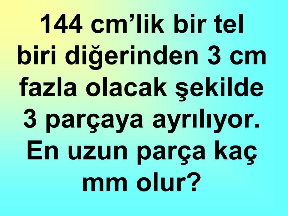 Halil'in boyu Akif'in boyundan 10 cm fazla ve Bekir bey'in boyundan 15 cm kısadır.