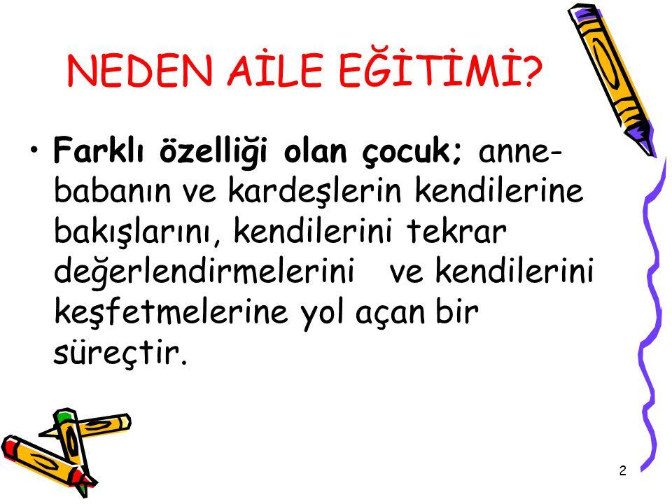 2 NEDEN AİLE EĞİTİMİ.