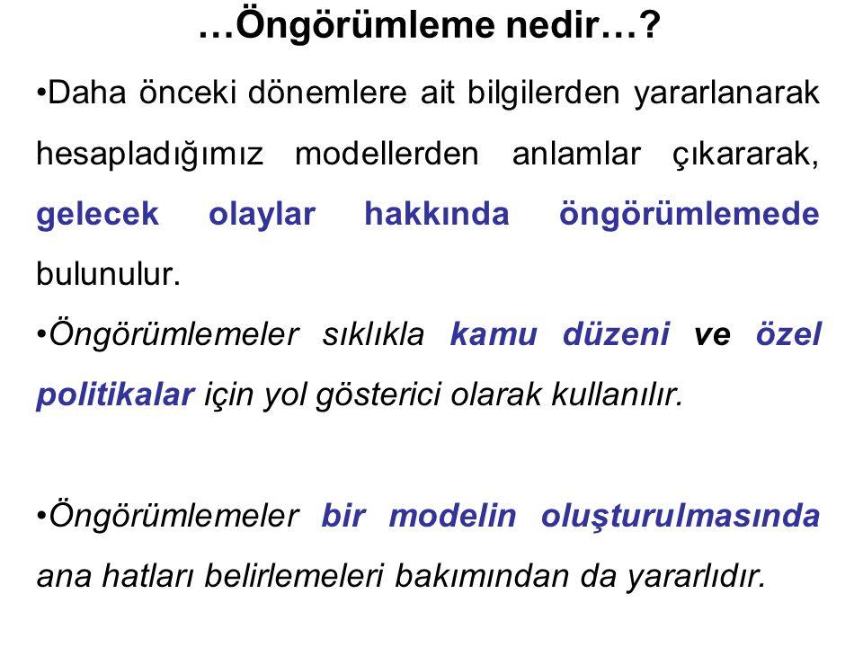 Model, Genelleştirilmiş fark denklemi biçimde yazılır.