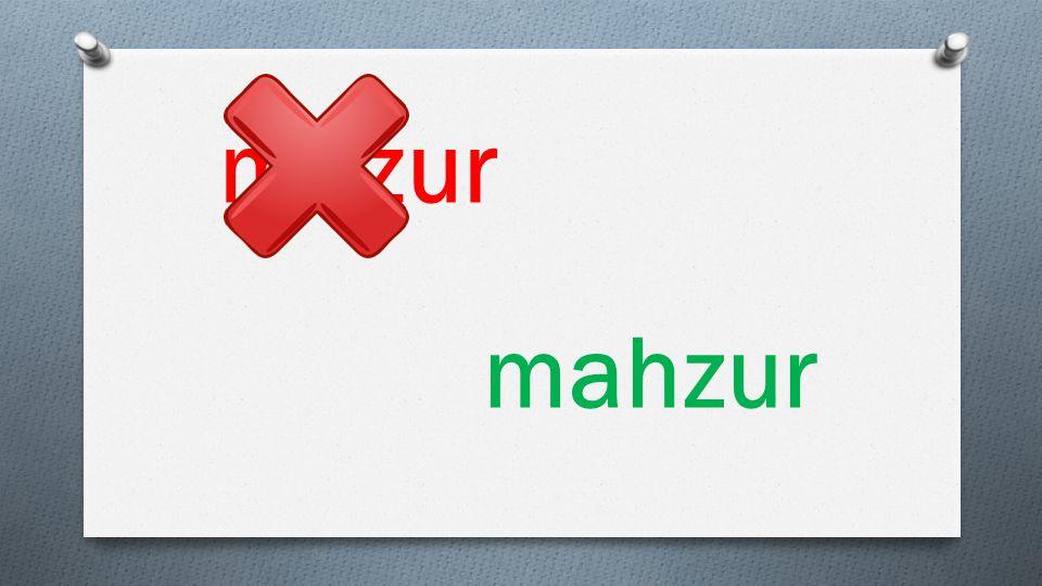 mazur mahzur