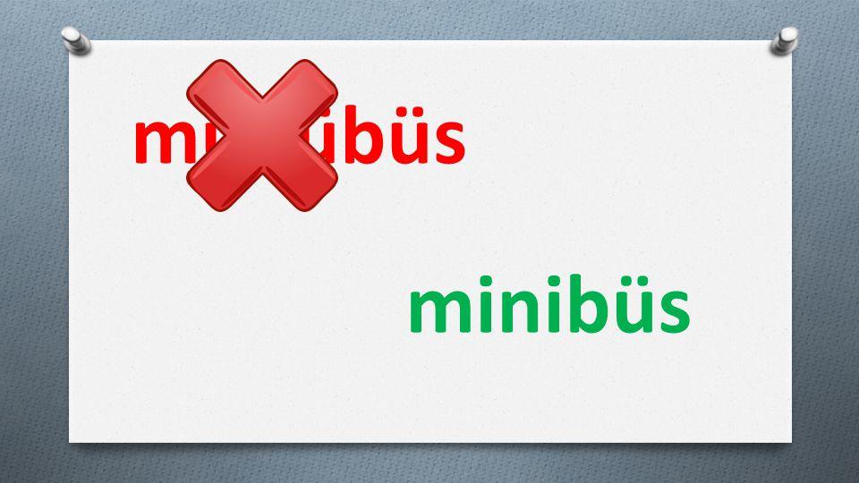 münübüs minibüs