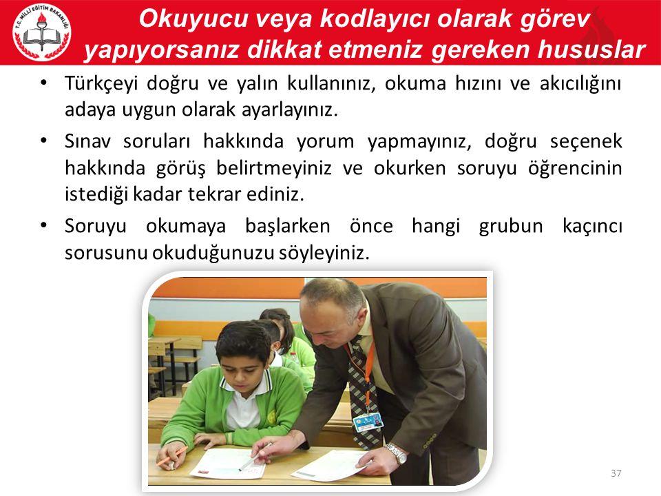 Türkçeyi doğru ve yalın kullanınız, okuma hızını ve akıcılığını adaya uygun olarak ayarlayınız.