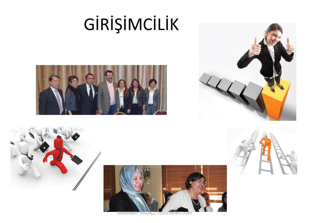 GİRİŞİMCİLİK Abdulkadir HALAÇLI www.halacli.com
