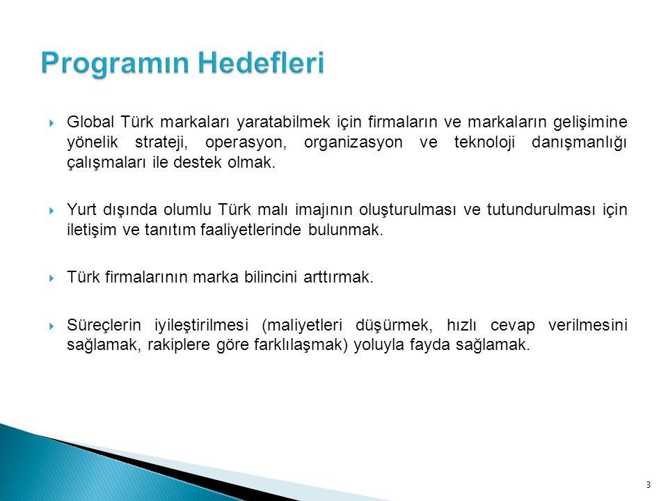  Global Türk markaları yaratabilmek için firmaların ve markaların gelişimine yönelik strateji, operasyon, organizasyon ve teknoloji danışmanlığı çalı