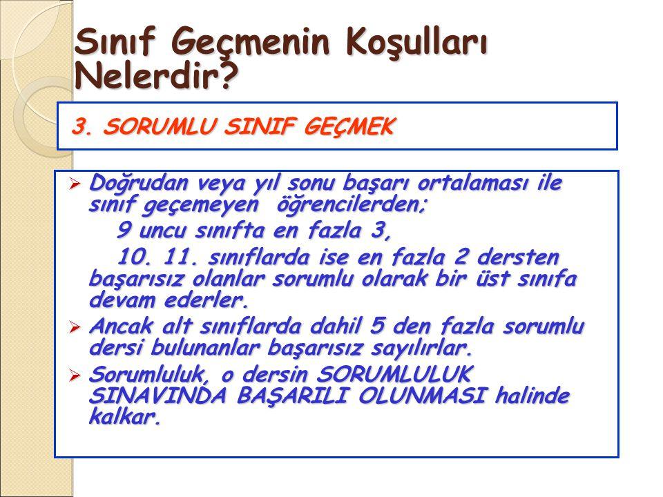 3.SORUMLU SINIF GEÇMEK 3.