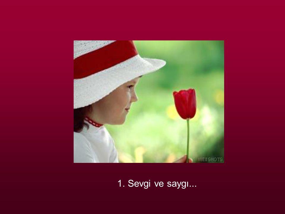 1. Sevgi ve saygı...