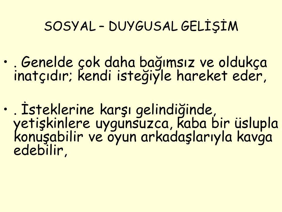 SOSYAL – DUYGUSAL GELİŞİM.