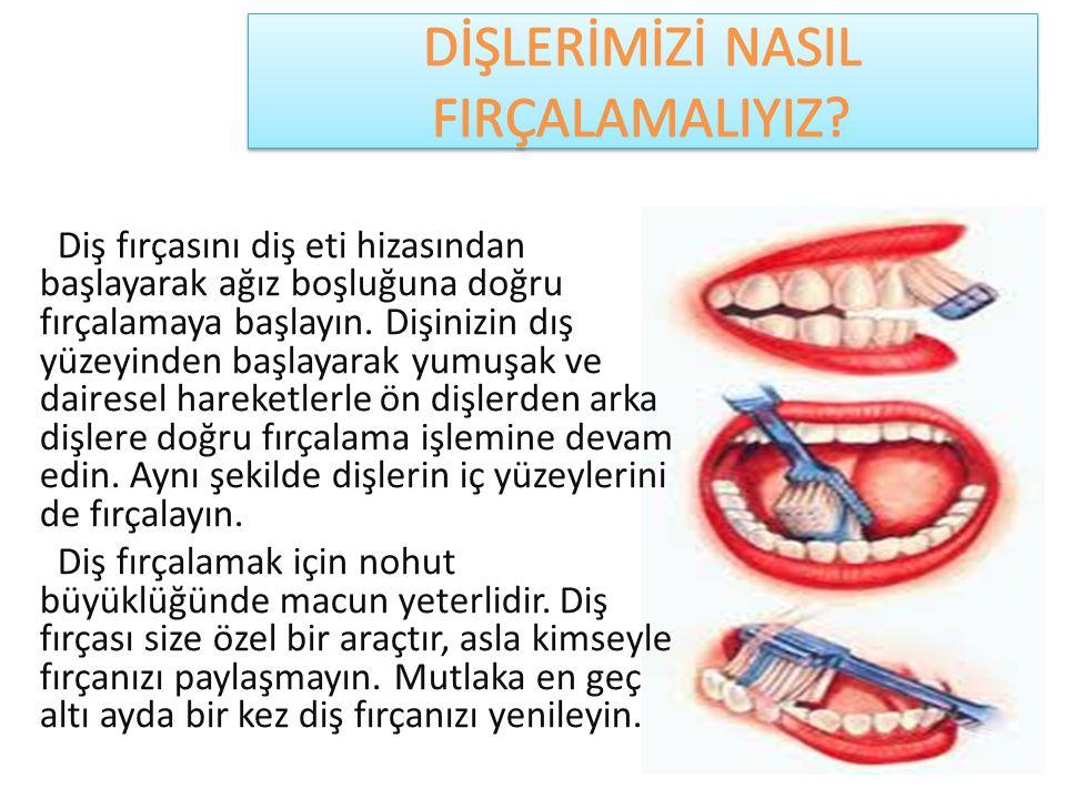 Diş fırçasını diş eti hizasından başlayarak ağız boşluğuna doğru fırçalamaya başlayın. Dişinizin dış yüzeyinden başlayarak yumuşak ve dairesel hareket