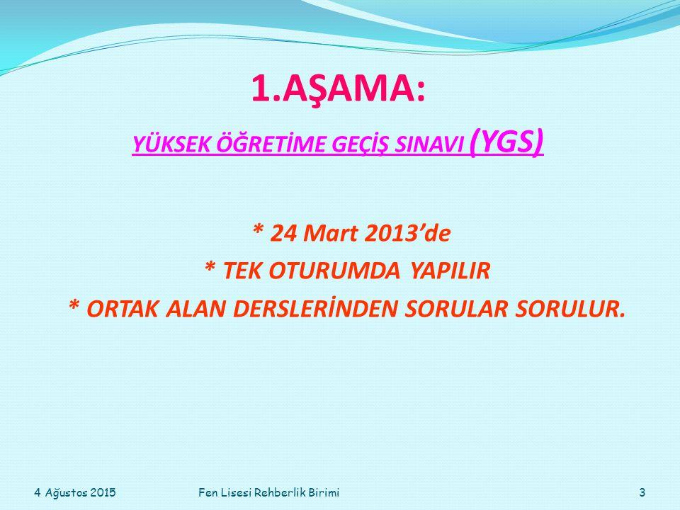 YGS başvuruları Ocak ayında alınır.LYS başvuruları Mayıs ayında alınır.