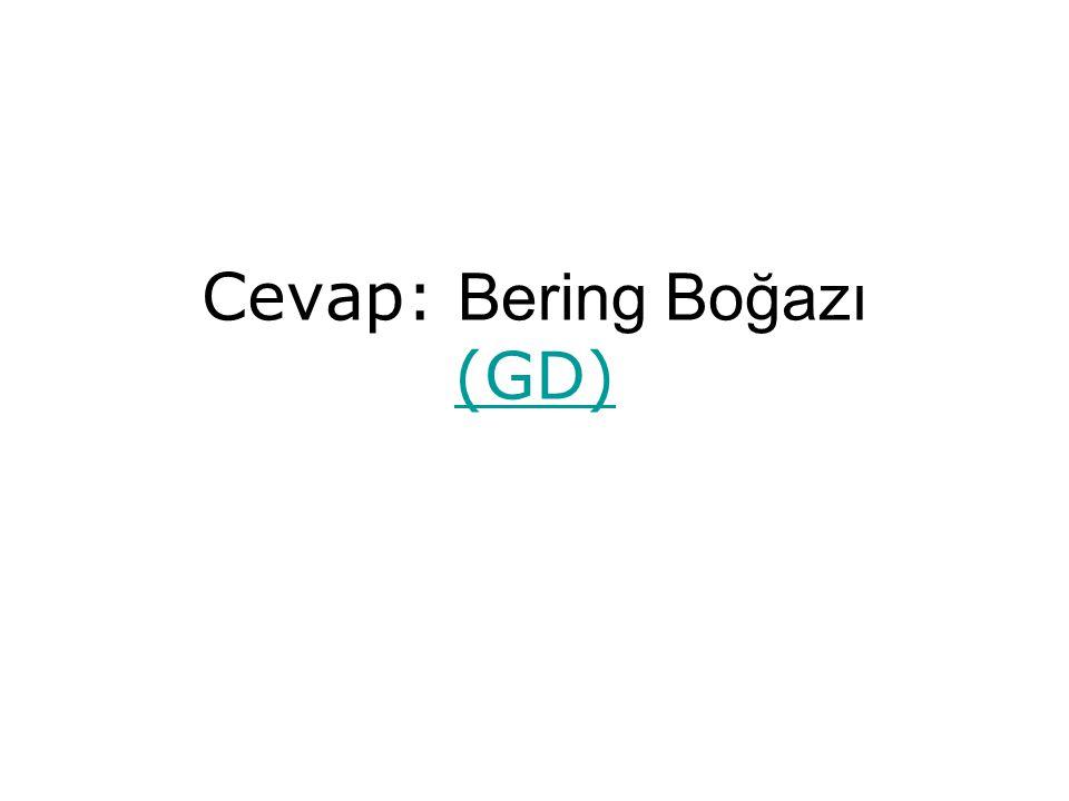 Cevap: Bering Boğazı (GD) (GD)