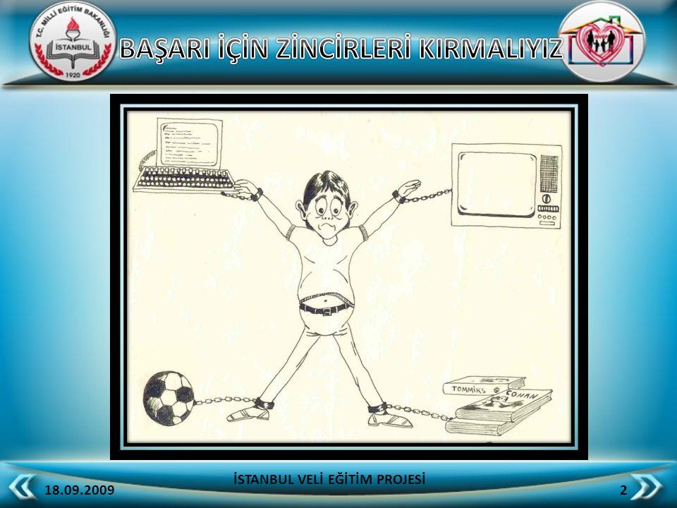 Öğrencinin çalışma masası yatağına uzak olmalıdır 18.09.2009 23 İSTANBUL VELİ EĞİTİM PROJESİ