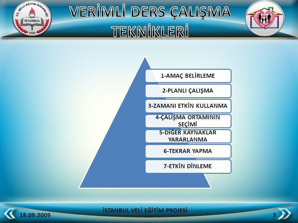 1-AMAÇ BELİRLEME2-PLANLI ÇALIŞMA3-ZAMANI ETKİN KULLANMA 4-ÇALIŞMA ORTAMININ SEÇİMİ 5-DİĞER KAYNAKLAR YARARLANMA 6-TEKRAR YAPMA7-ETKİN DİNLEME 18.09.20