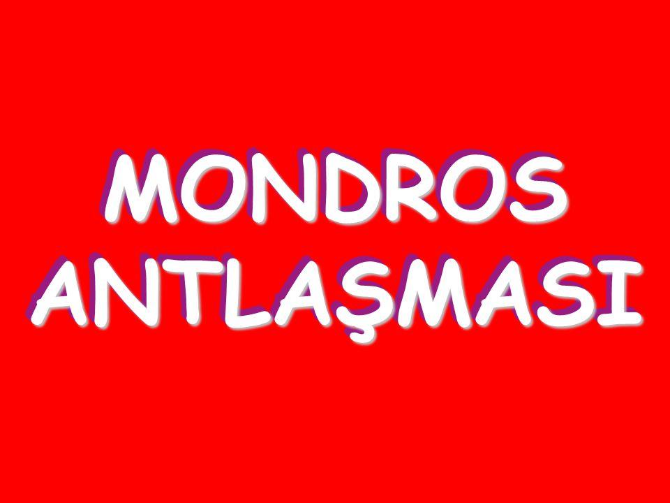 MONDROS ANTLAŞMASI