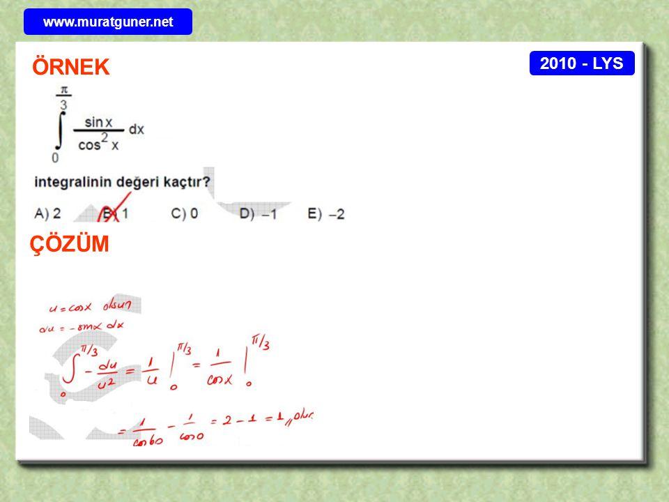 2010 - LYS ÖRNEK ÇÖZÜM www.muratguner.net