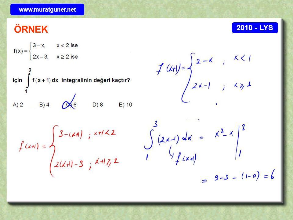 2010 - LYS ÖRNEK www.muratguner.net