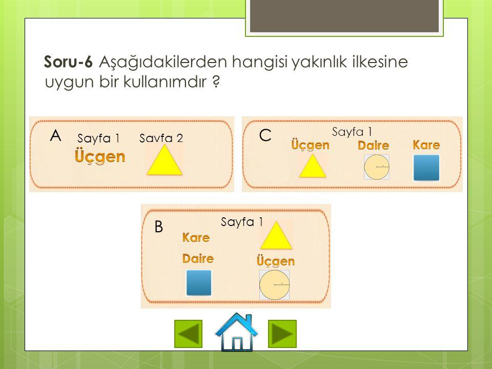 Soru-5 Aşağıdakilerden hangisi gereksizlik ilkesini en iyi şekilde tanımlamaktadır? A. Grafik, yazı ve metnin birlikte kullanılması öğrenmeyi engeller
