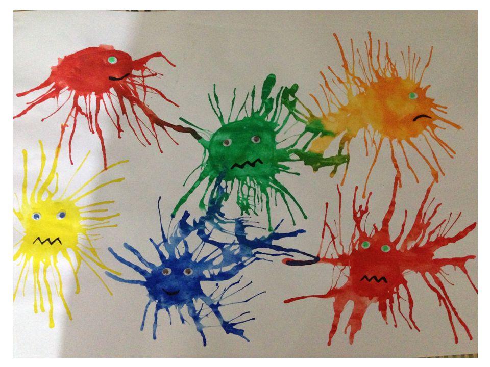 ÜFLEME OYUNU YAPILIŞI Kağıt üzerine damlatılan sulu boya ya da renkli mürekkepleri pipetlerle üfleyerek değişik yönlerde çizgisel dağılımlar oluştururlar.