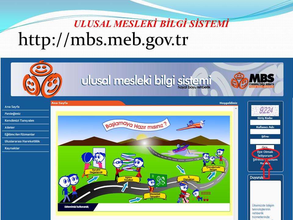 ULUSAL MESLEKİ BİLGİ SİSTEMİ http://mbs.meb.gov.tr