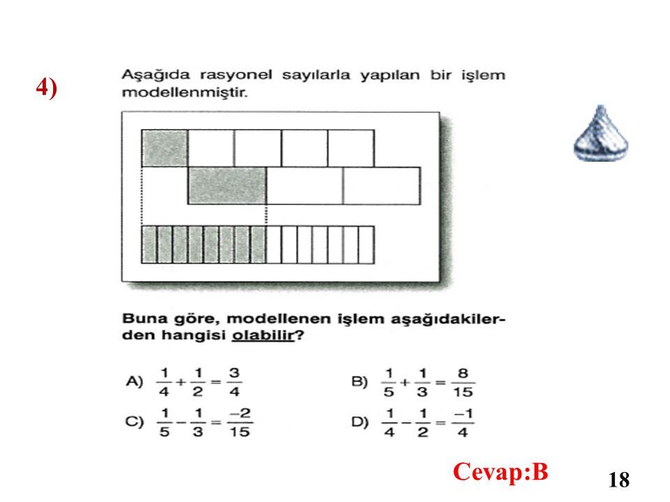 3) 17 Cevap:C