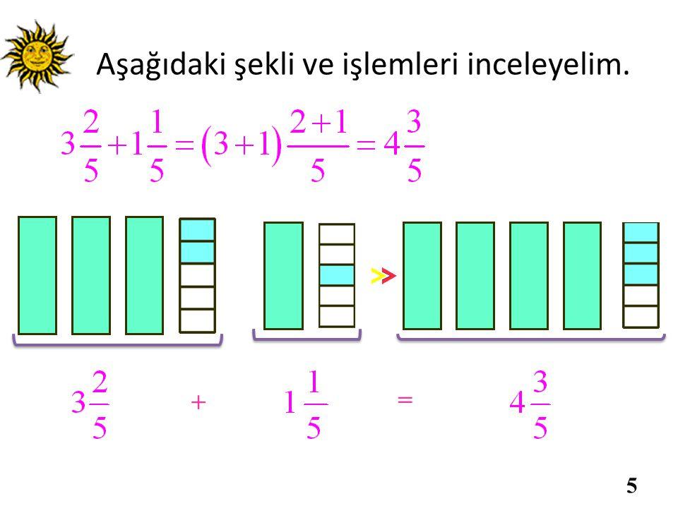 Aynı işlemi sayı doğrusu üzerinde yapalım. 01 4