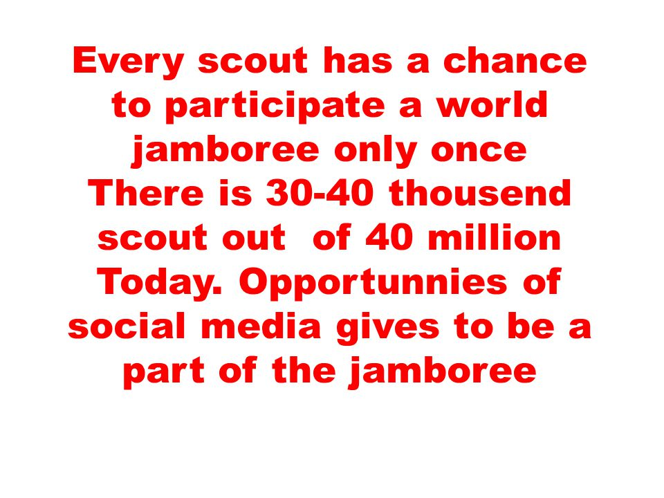 JOIN IN JAMBOREE BOOK IS FOR YOU