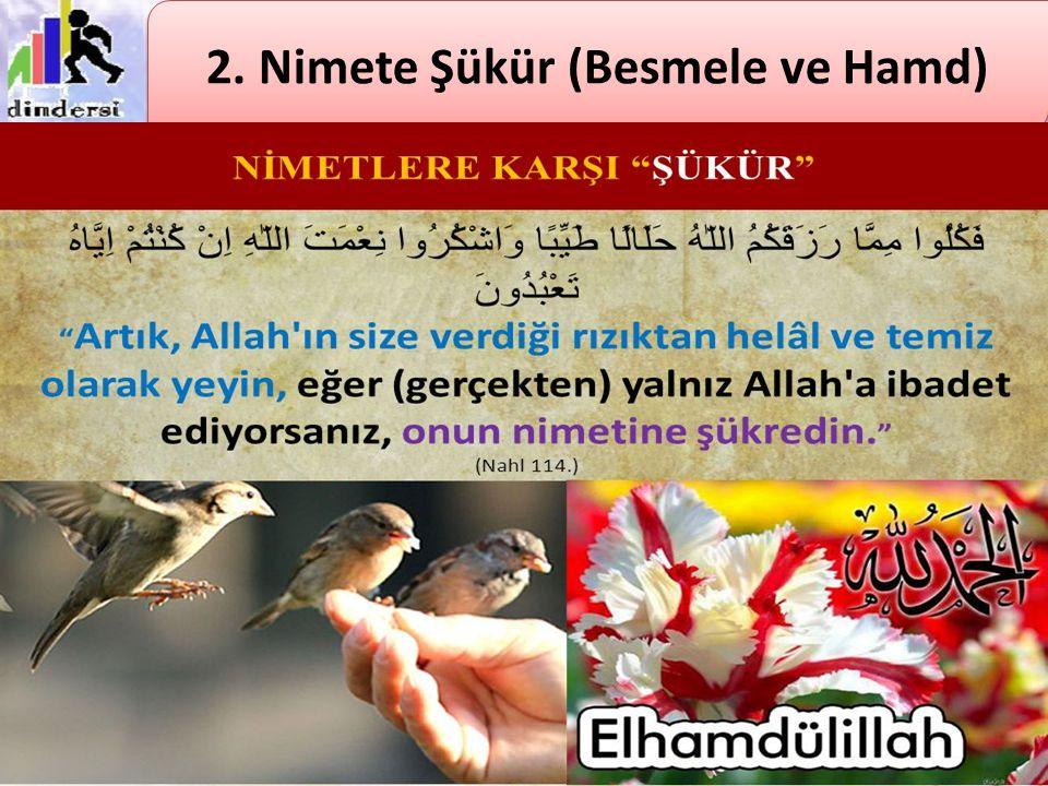 Şükür, her nimetin Allah'tan geldiğini bilip bunu dil ile ifade etmek; nimeti veren Rabb'imize teşekkür etmektir.