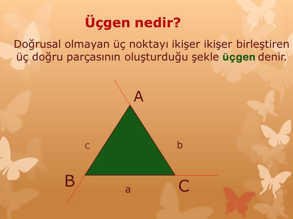 Çevremizdeki üçgen örnekleri Üçgen peynir Üçgen dilimli kek Üçgen seklinde saat levha Spor yapan insan