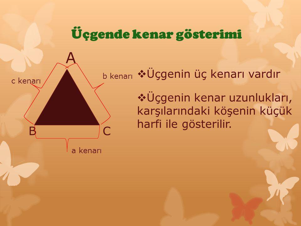 Üçgenlerin temel elemanları Açı Kenar