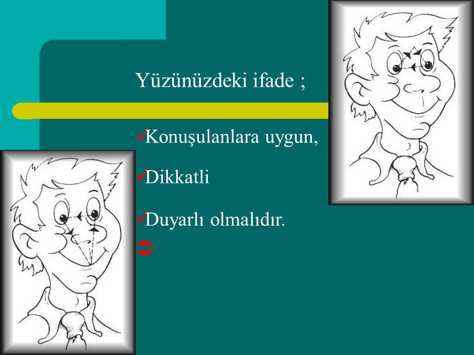 Beden Dili İletişimle oluşturulan etkinin; % 7 % 39 % 54 Konuşma dışı davranışlar (görsel) Ses tonu (tonlamalar) Söylenen sözcükler (kelimeler)