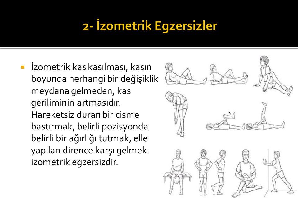  İzometrik kas kasılması, kasın boyunda herhangi bir değişiklik meydana gelmeden, kas geriliminin artmasıdır. Hareketsiz duran bir cisme bastırmak, b
