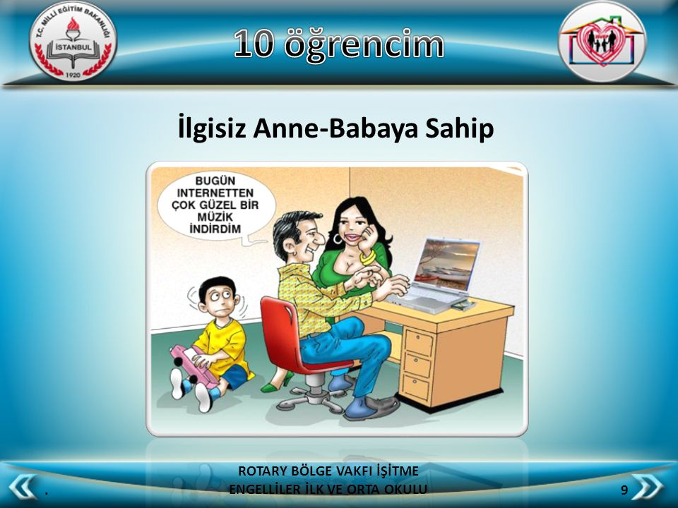 İlgisiz Anne-Babaya Sahip. 9 ROTARY BÖLGE VAKFI İŞİTME ENGELLİLER İLK VE ORTA OKULU