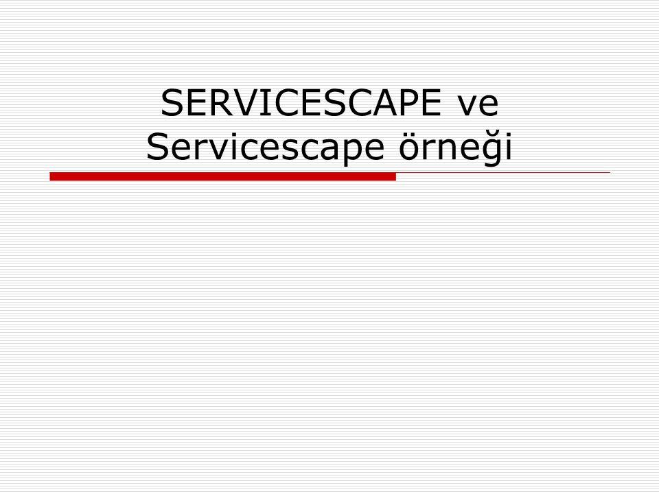 SERVICESCAPE ve Servicescape örneği
