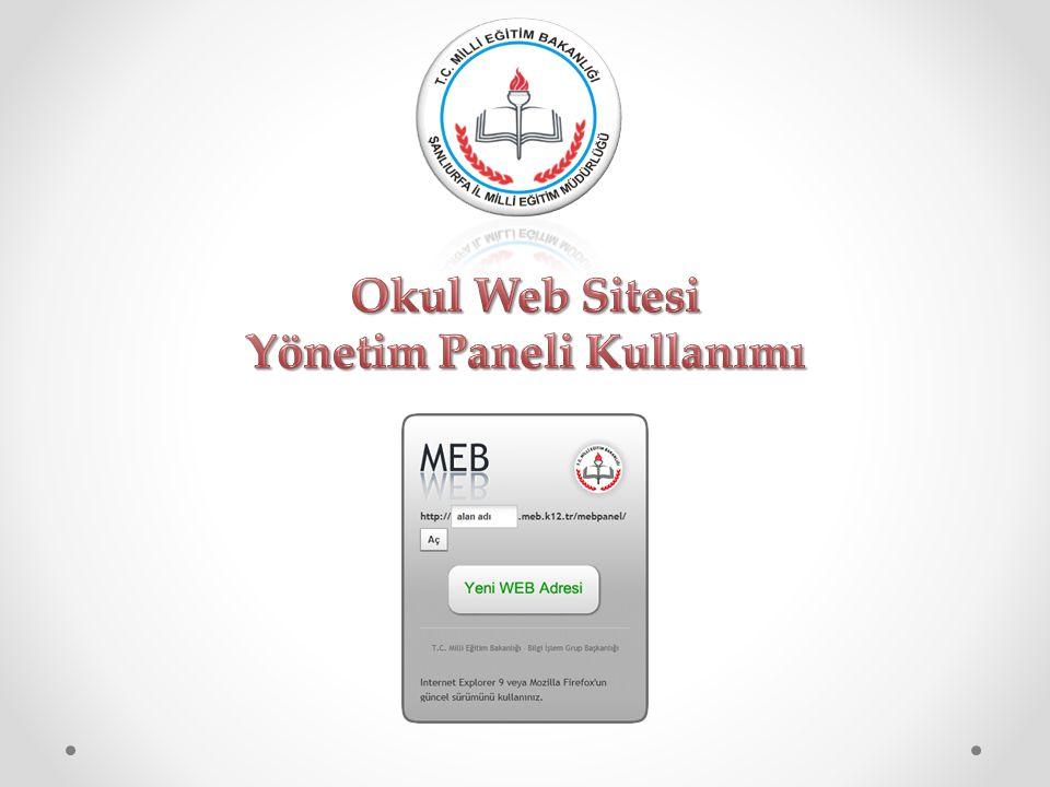 Millî Eğitim Bakanlığı Bilgi İşlem Grup Başkanlığı tarafından ortak web sitesi tasarım çalışması yapılmıştır.