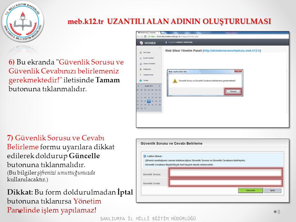 8) Yönetim paneline girilip Yayınla butonuna tıklandığında web sitesi, içeriği boş olarak yayınlanmış olur.