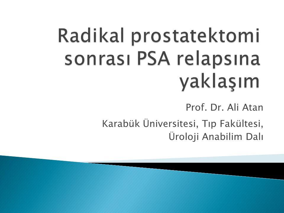 PSA TRUSG kılavuzluğunda prostat biyosisi PKa (1/6 erkek) (%40) Radikal prostatektomi (RP)