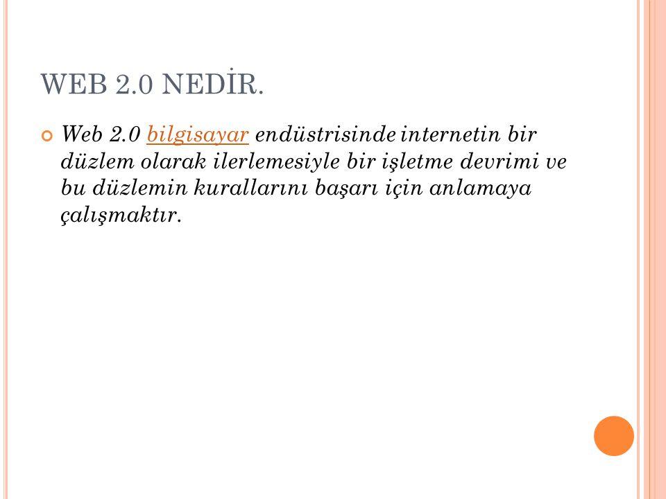 WEB 2.0 NEDİR.