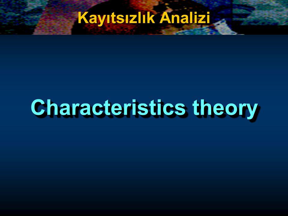 Characteristics theory Kayıtsızlık Analizi