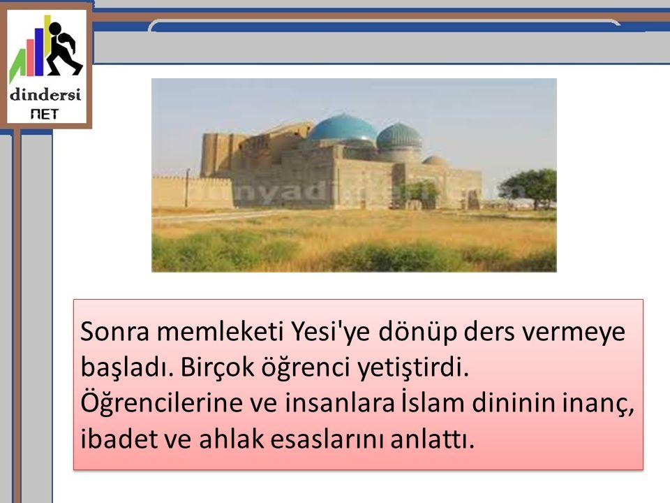 Hoca Ahmet Yesevi, insanlara İslam ın ilkelerini anlatırken hikmet adı verilen şiirlerini kullandı.
