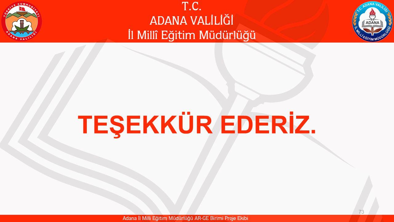 73 TEŞEKKÜR EDERİZ.