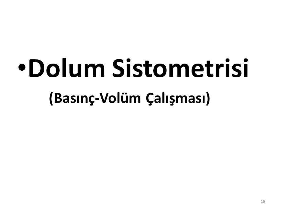 Dolum Sistometrisi (Basınç-Volüm Çalışması) 19