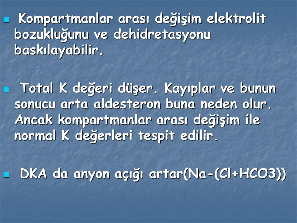 Asetoasetonun artımı ile oluşan asetonun akciğerlerle atılımı nefeste aseton kokusuna neden olur.